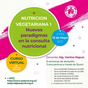 CAPACITACIONES DE LA ASOCIACIÓN ARGENTINA De DIETISTAS Y NUTRICIONISTAS DIETISTAS
